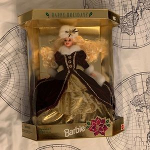 NIB Happy Holidays Barbie
